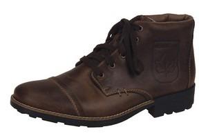 fc85dfaa73d9c Soňa - Pánska obuv - Zimná - Hnedé kožené topánky na šnurovanie Rieker