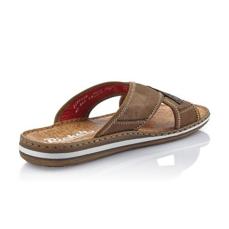 41886c99466d1 Soňa - Pánska obuv - Šľapky - Hnedé pánske šľapky na leto Rieker