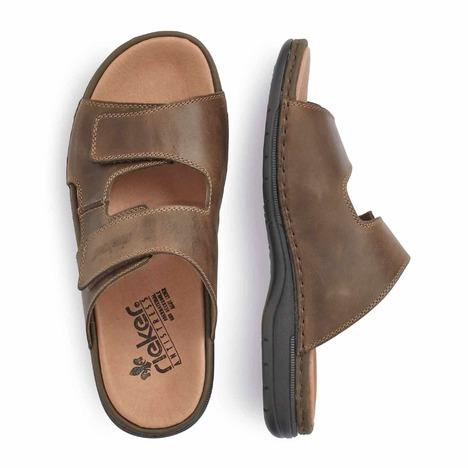 a6cc4f16f8 Soňa - Pánska obuv - Šľapky - Hnedé pánske šľapky značky Rieker