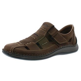 8f7e058fa4e8 Hnedé pánske uzatvorené sandále Rieker ...