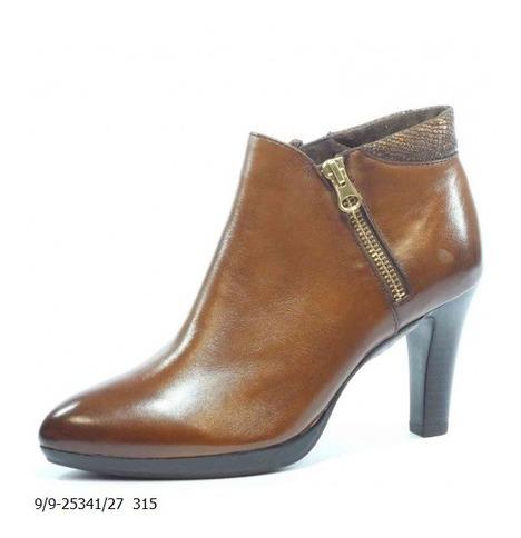 72b1ab718e95 Soňa - Dámska obuv - Kotníčky - Kožené hnedé členkové topánky Caprice