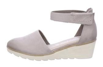 b0ea9a29bef0e Šedé uzatvorené sandále Marco Tozzi. Elegantno-športové sandále na platforme  ...