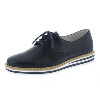 4866e73a5fbe Modrá dámska obuv šnurovacia značky Rieker ...