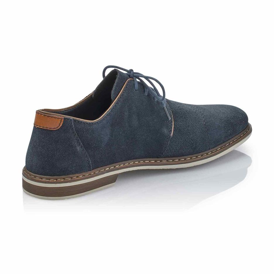 327eaad2ada1 Soňa - Pánska obuv - Poltopánky - Modrá pánska šnurovacia obuv značky Rieker