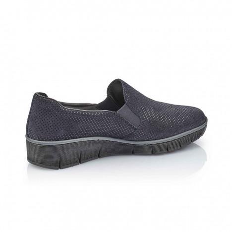 a38829b716f62 Soňa - Dámska obuv - Mokasíny - Modré dámske mokasíny značky Rieker