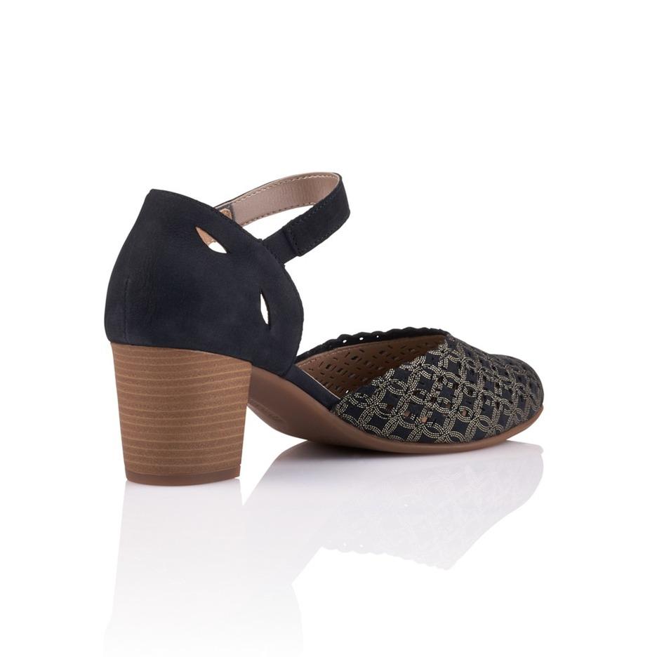 e47eea6480 Soňa - Dámska obuv - Sandále - Modré dámske otvorené sandále na vysokom  podpätku Remonte - Rieker