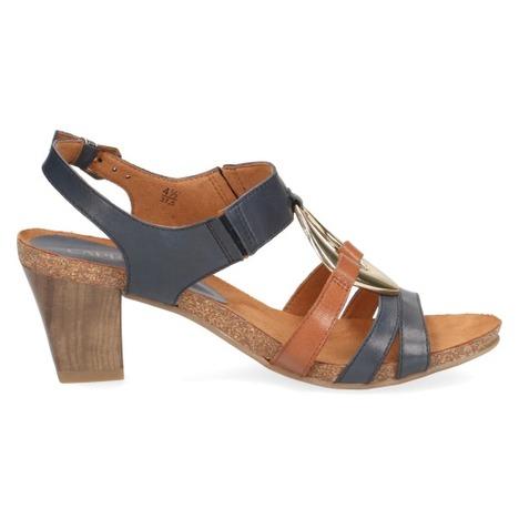 80a3b27bec Soňa - Dámska obuv - Sandále - Modré dámske otvorené sandále na vysokom  podpätku značky Caprice