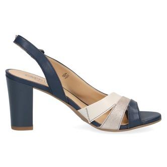 bdeabdea9a90 ... Modré dámske otvorené sandále na vysokom podpätku značky Caprice ...