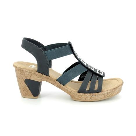 9aa496e227 Soňa - Dámska obuv - Sandále - Modré dámske otvorené sandále Rieker