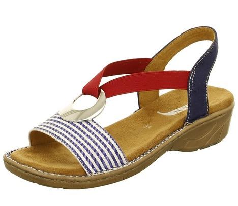 285f0ca4dd61 Soňa - Dámska obuv - Sandále - Modré dámske sandále na nízkom podpätku  značky Jenny