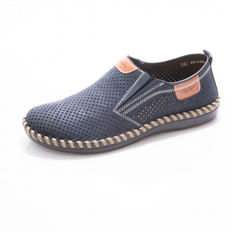 29f24f8814 Modré pánske mokasíny Rieker Modré pánske mokasíny Rieker Nová kolekcia obuv  týždňa