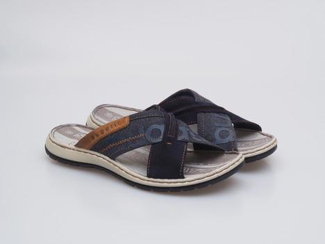 4d2c0365c6 Soňa - Pánska obuv - Šľapky - Modré pánske šľapky na leto Bugatti