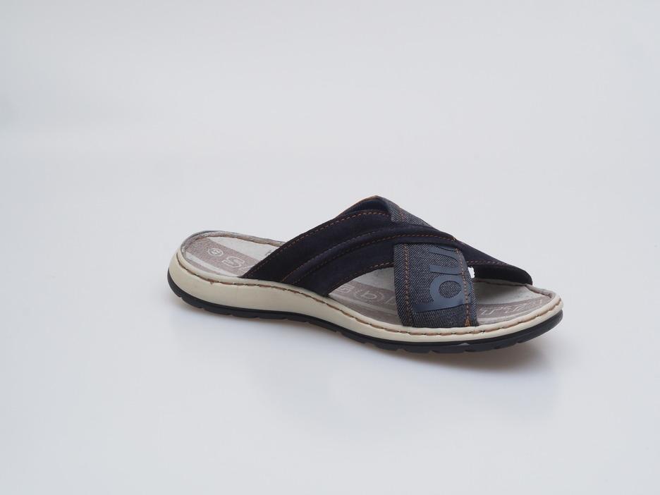 f4aee0bc79910 Soňa - Pánska obuv - Šľapky - Modré pánske šľapky na leto Bugatti