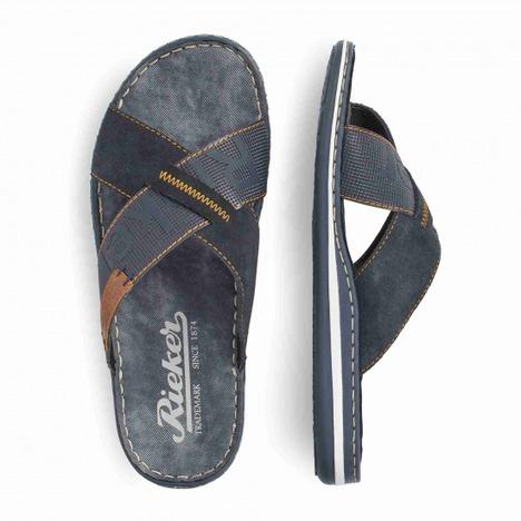 43b4729b42434 Soňa - Pánska obuv - Šľapky - Modré pánske šľapky značky Rieker