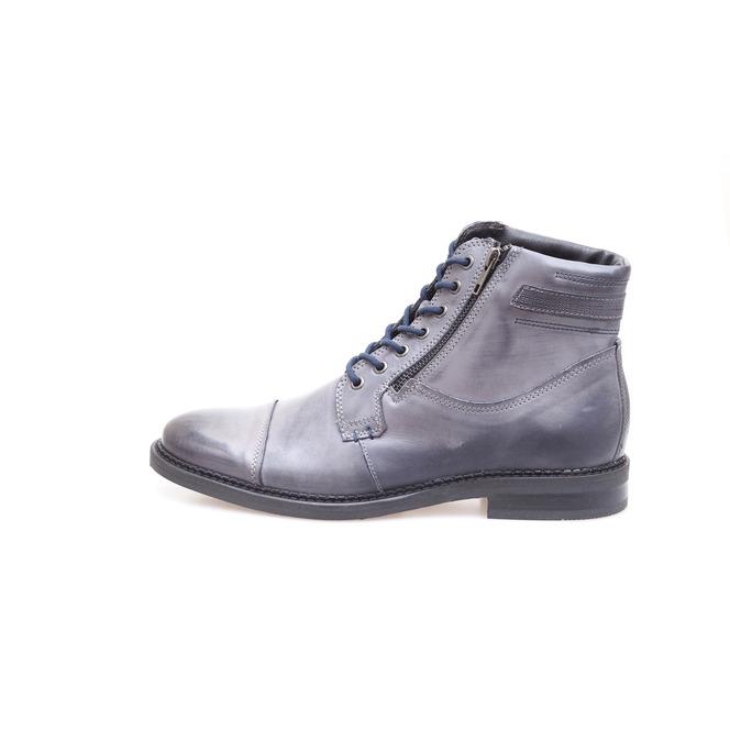 5196ac375189 Pánska obuv šnurovacia zateplená šedá ...