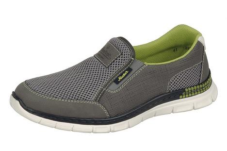 6b895fabc0 Soňa - Pánska obuv - Tenisky - Perforované šedé pánske mokasíny Rieker