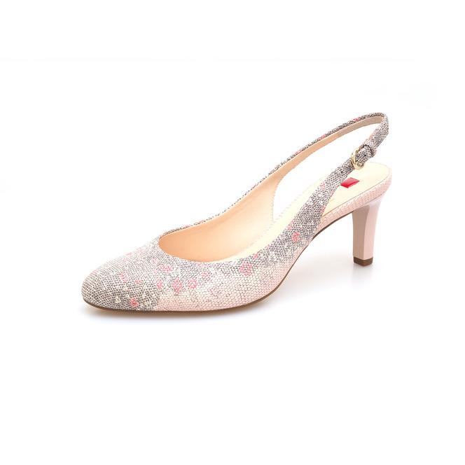 85f1a594cd23 ... Ružové dámske uzatvorené sandále na vysokom podpätku značky Hogl ...