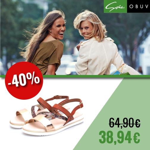 717fab04cca8a Nepremeškajte veľký letný výpredaj obuvi Soňa. V ponuke nájdete krásne  dámske sandále za výpredajové ceny.