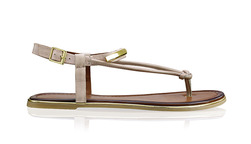 5a2939b70 Sandále medzi prsty so zlatými ozdobami a remienkom okolo členku
