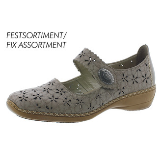 6776ae6e1420 Šedá dámska obuv so zapínacím páskom značky Rieker ...