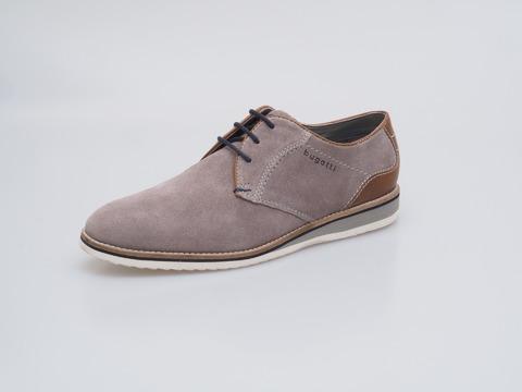 67ccada60e Soňa - Pánska obuv - Poltopánky - Šedá pánska šnurovacia obuv značky Bugatti