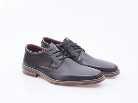 c4a087c58459 Soňa - Pánska obuv - Poltopánky - Šnurovacie kožené čierne topánky Rieker