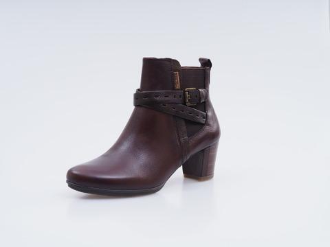cade3aac013b Soňa - Dámska obuv - Kotníčky - Tmavohnedé kožené topánky na nízkom podpätku