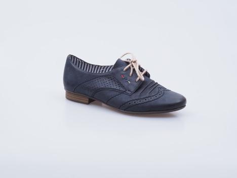 e3de14a24c6f Soňa - Dámska obuv - Poltopánky - Tmavomodrá šnurovacia obuv prešívana  Rieker