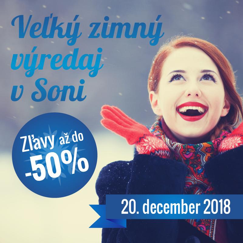 Veľký zimný výpredaj v obuvi Soňa vrcholí. 20.12.2018 sa môžete tešiť na  vybrané druhy obuvi a kabeliek značiek Rieker c87c9d0e9e2
