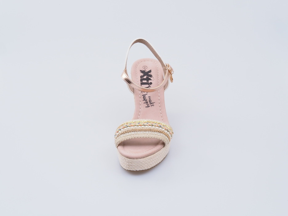 8b1ba9f2be1f Soňa - Dámska obuv - Sandále - Xti dámska sandála na klinovom podpätku  béžová