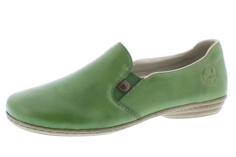 94d4116d86 Soňa - Dámska obuv - Mokasíny - Zelené dámske mokasíny značky Rieker