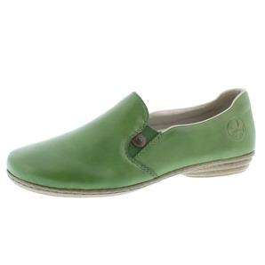 29ca3f96e6 Zelené dámske mokasíny značky Rieker ...