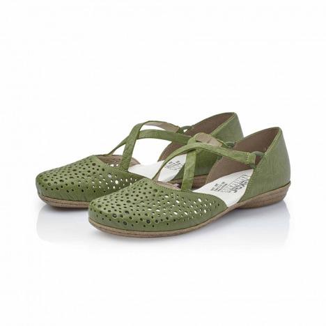 a8ada41e61188 Soňa - Dámska obuv - Sandále - Zelené dámske uzatvorené sandále na ...