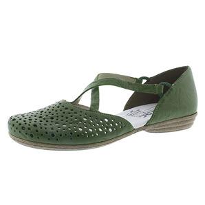 cb266b6165 Zelené dámske uzatvorené sandále na nízkom podpätku Rieker Nová kolekcia  obuv týždňa