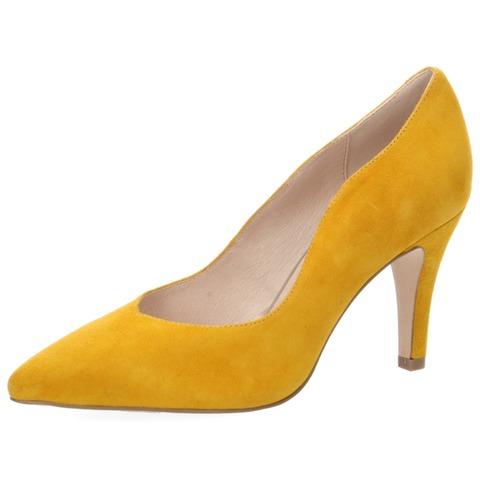297a5137ff73 Soňa - Dámska obuv - Spoločenská obuv - Žltá dámske lodičky na vysokom  podpätku značky Caprice