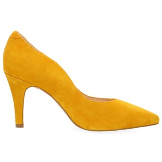 748444e750 ... Žlté dámske lodičky na vysokom podpätku značky Caprice ...